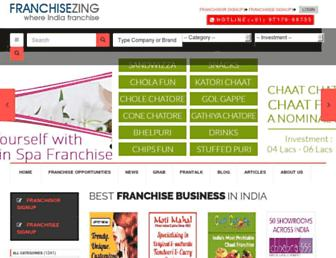 franchisezing.com screenshot