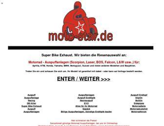 Main page screenshot of moto-star.de