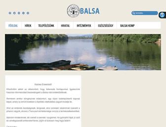Main page screenshot of balsa.hu
