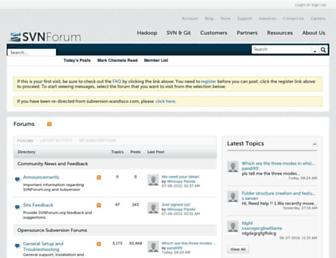 Main page screenshot of svnforum.org