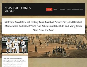 baseballhistorycomesalive.com screenshot