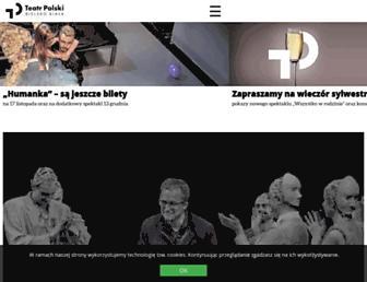 Main page screenshot of teatr.bielsko.biala.pl