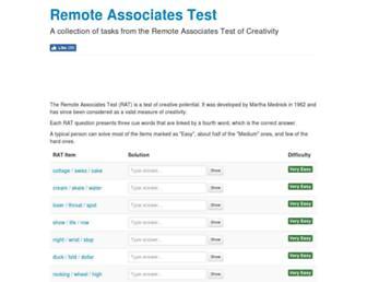 remote-associates-test.com screenshot