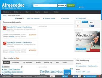 free.afreecodec.com screenshot