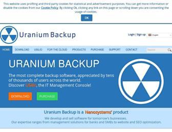 uranium-backup.com screenshot