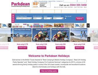 Thumbshot of Parkdeanholidays.co.uk