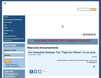 Main page screenshot of gsmlaborcouncil.org