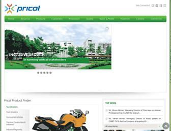 pricol.com screenshot