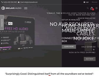 enclaveaudio.com screenshot