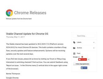 chromereleases.googleblog.com screenshot