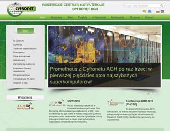 Main page screenshot of cyfro.net