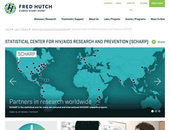 Main page screenshot of scharp.org