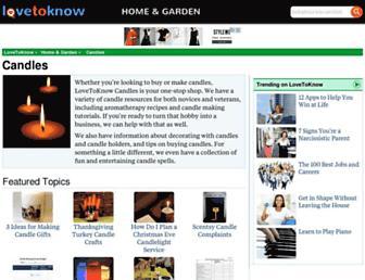 candles.lovetoknow.com screenshot
