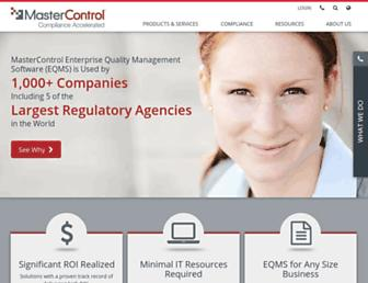 mastercontrol.com screenshot