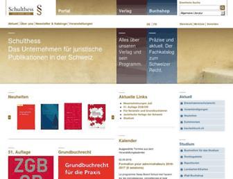 schulthess.com screenshot