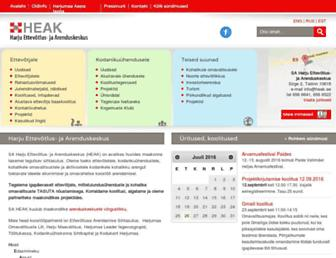 Main page screenshot of heak.ee