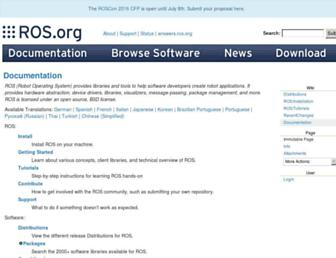 wiki.ros.org screenshot