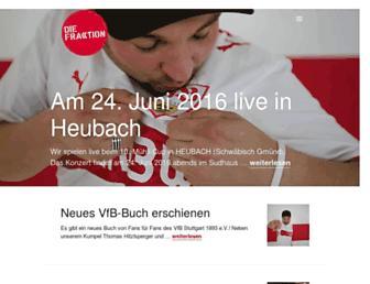 Main page screenshot of diefraktion.de