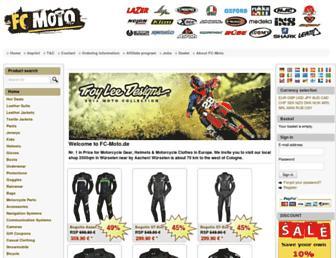 Main page screenshot of fc-moto.de