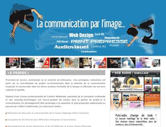 Main page screenshot of airwhitedesign.fr