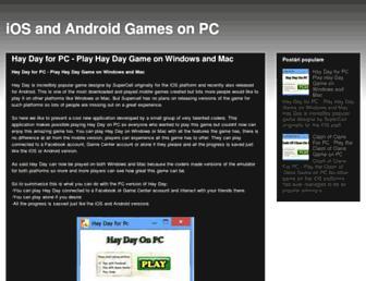 mobilegamesforpc.blogspot.com screenshot