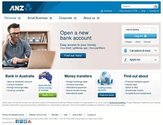anz.com.au screenshot