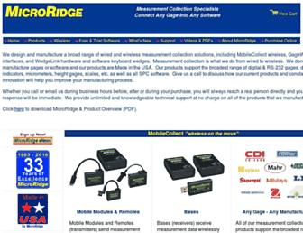 microridge.com screenshot