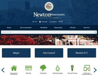 newtonma.gov screenshot