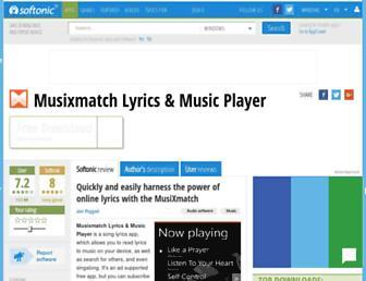 musixmatch-lyrics-player.en.softonic.com screenshot