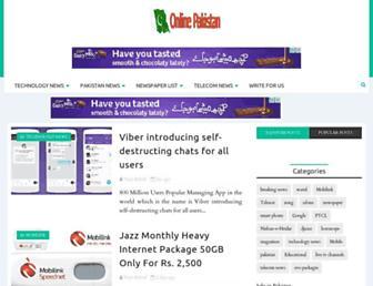onlinepakistanofficial.com screenshot