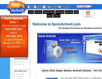 sonicactivex.com screenshot