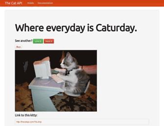 thecatapi.com screenshot