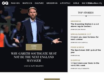 Main page screenshot of gq-magazine.co.uk