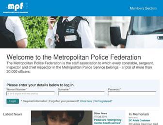 metfed.org.uk screenshot