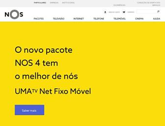 Main page screenshot of tvcabo.pt