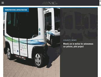 Main page screenshot of uscounties.org