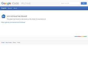 xml-retrieval.googlecode.com screenshot