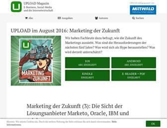 Main page screenshot of upload-magazin.de