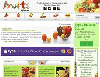 Thumbshot of Fruitsinfo.com