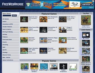 freewebarcade.com screenshot