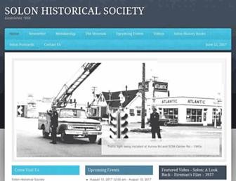 solonhistoricalsociety.org screenshot