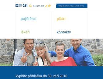 Main page screenshot of zpmvcr.cz