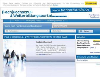 fachhochschule.de screenshot