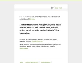 Main page screenshot of board.koffer.ee