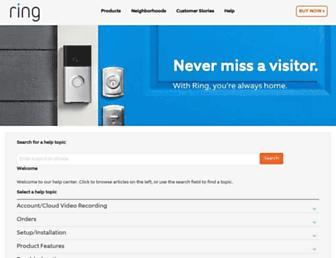 support.ring.com screenshot