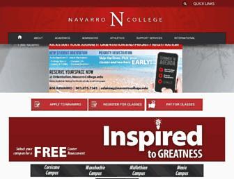 Main page screenshot of navarrocollege.edu