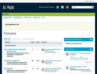 forums.iobit.com screenshot