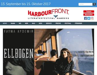 Main page screenshot of harbour-front.org