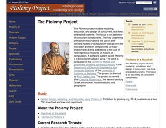 ptolemy.berkeley.edu screenshot