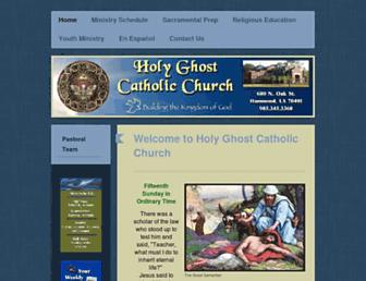 Main page screenshot of hgchurch.org